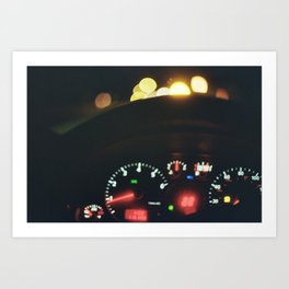 Car Dash Art Print