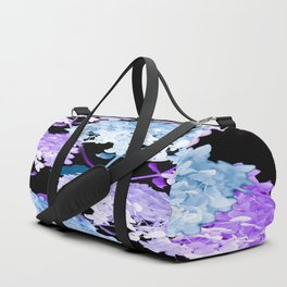Hydrangea Branches On A Black Background #decor #buyart #society6 Duffle Bag