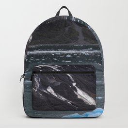 Alaska Snowy Mountain Cool Blue Icebergs Backpack