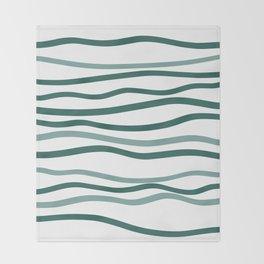 sea is blue Throw Blanket