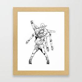 Gappy posing as freddy mercury Framed Art Print
