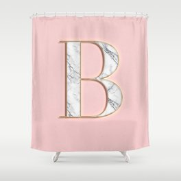 B letter monogram Shower Curtain