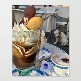 Capri Café Au Lait Canvas Print