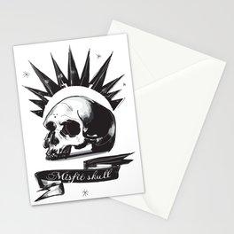Misfit Skull Stationery Cards