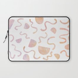 Squiggles and lines in pink and purple Laptop Sleeve
