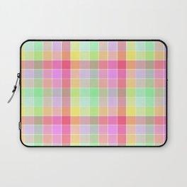 Pastel Rainbow Sorbet Ice Cream Check Plaid Laptop Sleeve