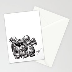 Woof :: A Dust Mop Dog Stationery Cards