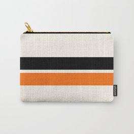 2 Stripes Black Orange Carry-All Pouch