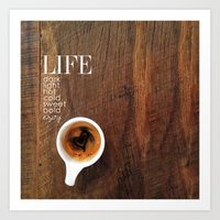 coffe Art Prints featuring Coffe Art by Christi