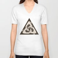 triangle V-neck T-shirts featuring TRIANGLE by Ali GULEC