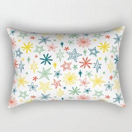 sparkly star pattern Rectangular Pillow
