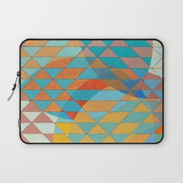 Triangle Pattern No. 11 Circles Laptop Sleeve