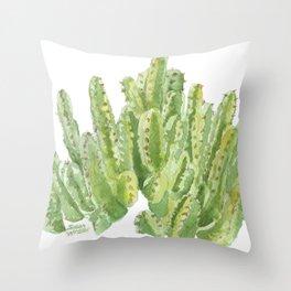 Moroccan Mound Cactus Watercolor Throw Pillow