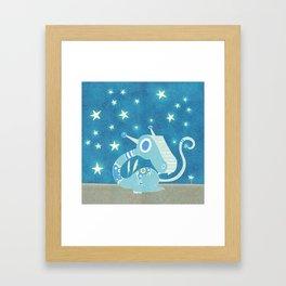 Blue Dragonie Framed Art Print