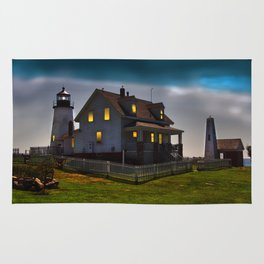 The Lights are on at Pemaquid Rug