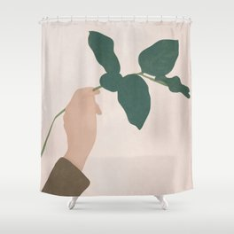 Holding the Branch Shower Curtain
