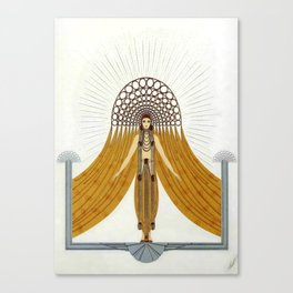 "Art Deco Oriental Design ""Café Foujita"" Canvas Print"