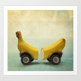 Banana Splitmobile Art Print