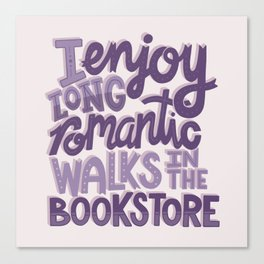 Book Nerd - Romantic Bookstore Purple Canvas Print