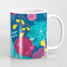Royal blue floral Coffee Mug