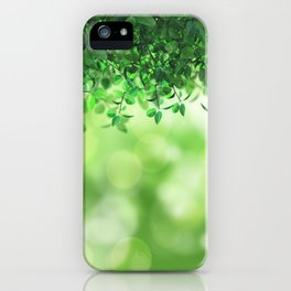Leaves green nature iPhone Case