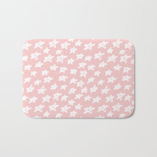 Stars on pink background Bath Mat