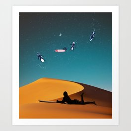 Surf dreaming Art Print