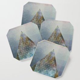Perseid - Contemporary Geometric Pyramid Coaster