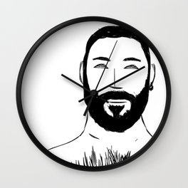 Beard Boy: Emilio 2 Wall Clock