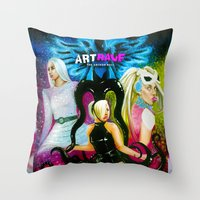 artrave Throw Pillows featuring ARTRAVE by CARLOSGZZ