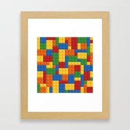 Lego bricks Framed Art Print