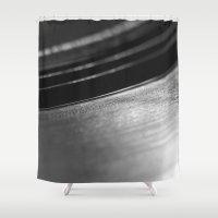 vinyl Shower Curtains featuring Vinyl by Anastase Kyriakos