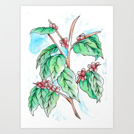 Coffee in Color Art Print