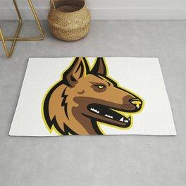 Belgian Malinois Dog Mascot Rug