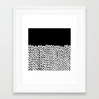 knit Framed Art Prints featuring Half Knit by Project M
