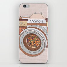 Wood Canon iPhone & iPod Skin