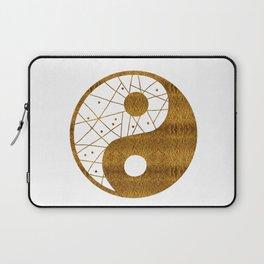 Abstract YIN AND YANG Taijitu Symbol | gold Laptop Sleeve