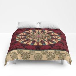 Mandala in red grená Comforters