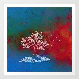 Wind Multi Color Art Print