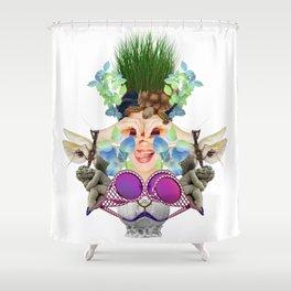 Blue Grass by Lenka Laskoradova Shower Curtain