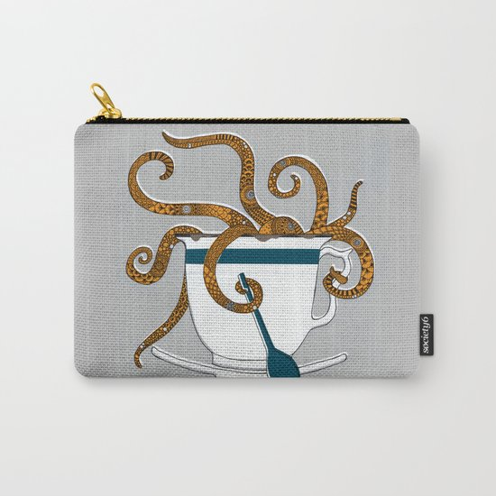 Octopus in a Teacup Carry-All Pouch