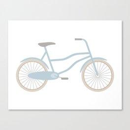 Blue Retro Bicycle Canvas Print