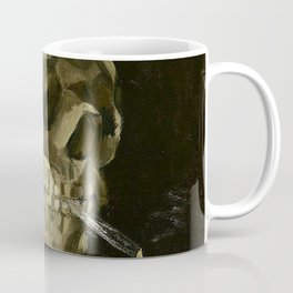 SKULL OF A SKELETON WITH BURNING CIGARETTE - VINCENT VAN GOGH Coffee Mug
