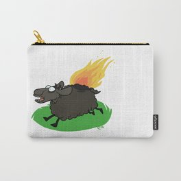 Flaming Sheep (Black) Carry-All Pouch