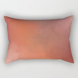 Abstract warm rust red colors Rectangular Pillow