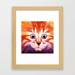 Flag Cat Framed Art Print