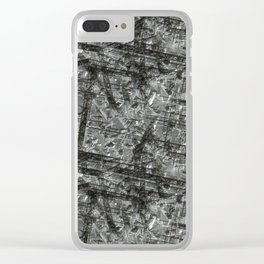 Gouged Stainless Texture Clear iPhone Case