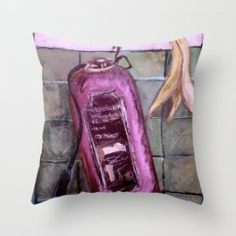 extincteurs et les bananes Throw Pillow