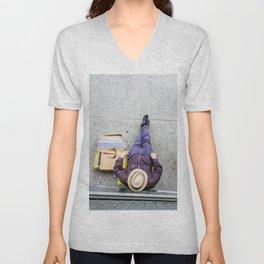 Purple Pants Unisex V-Neck
