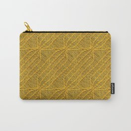 Yellow Lines Knit Carry-All Pouch